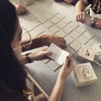 Playing Myshoememory with friends - Zebegény, Hungary